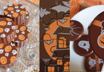Transfers e Quebra-cabeça e pirulito Halloween